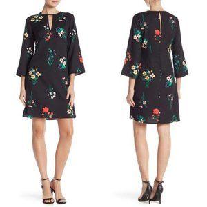 Vince Camuto Floral Print Keyhole Dress Size 12